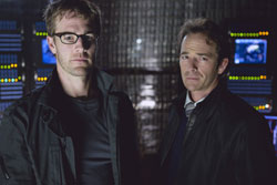Van Der Beek (Dawson, Dawson's Creek) and Perry (Dylan, Beverly Hills 90210) star in The Storm, airing Sunday on NBC.