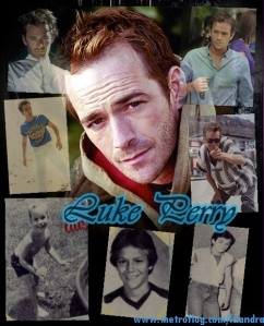 luke perry collage